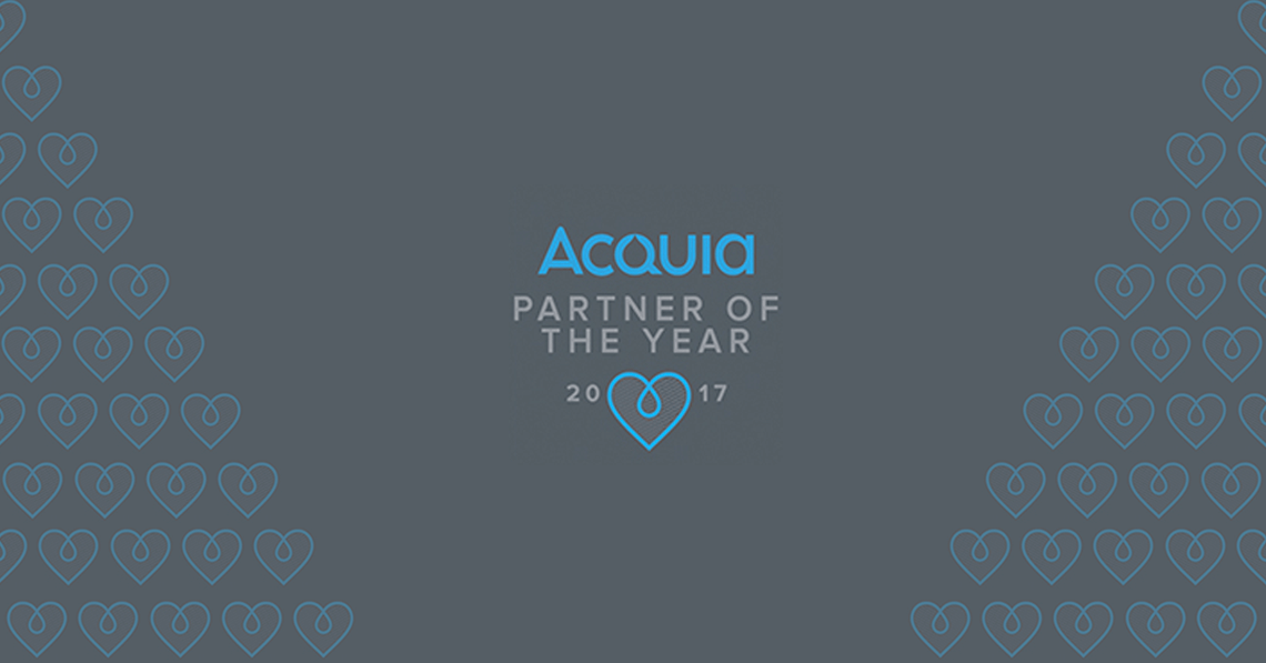 A grey background with the saying CI&T wins Acquia MVP
