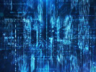 Digital binary data and network in huge storage space