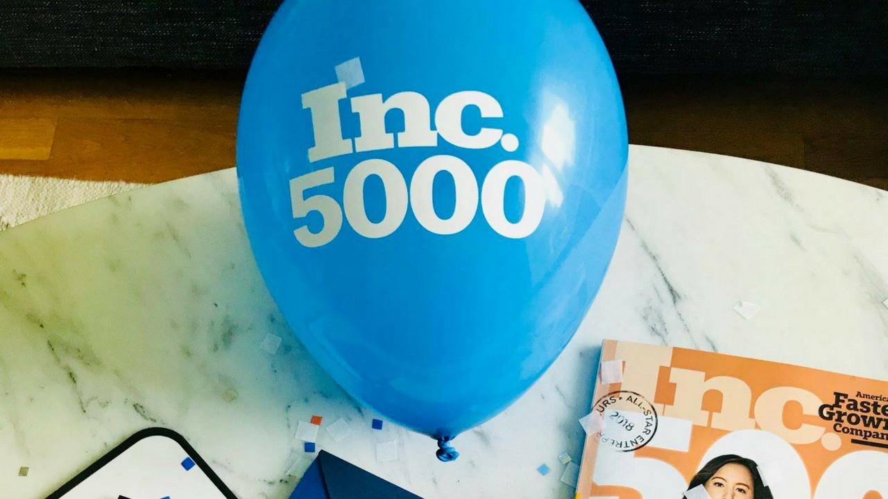 Inc500 blue balloon