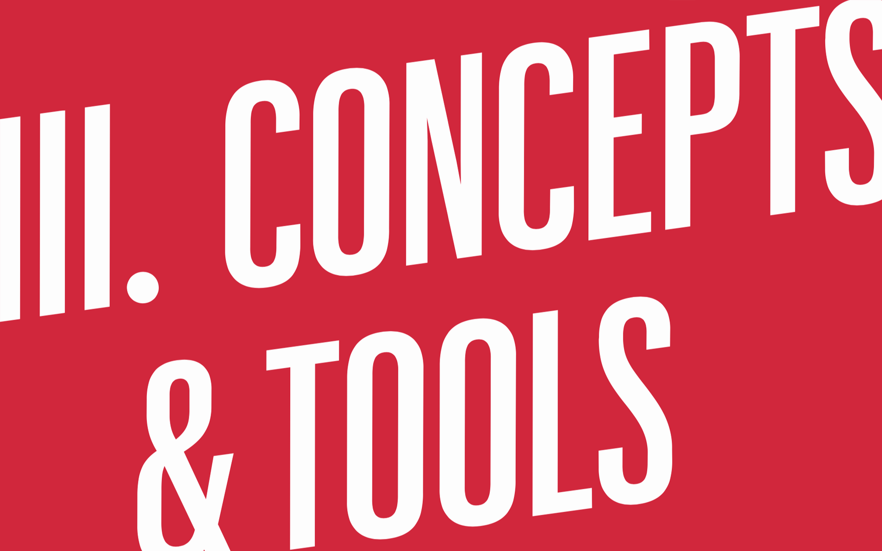Concepts & Tools chapter cover