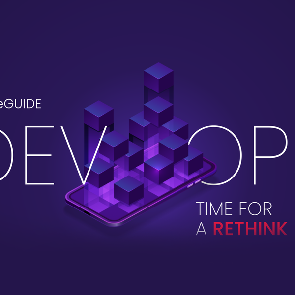 A purple background with DevOps eGuide logo