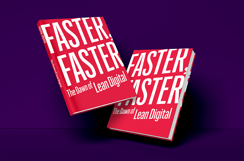 Mockup of the Faster, Faster book