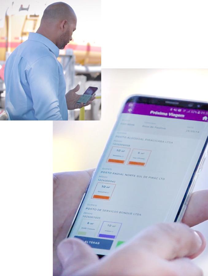 Man using CSfacil app