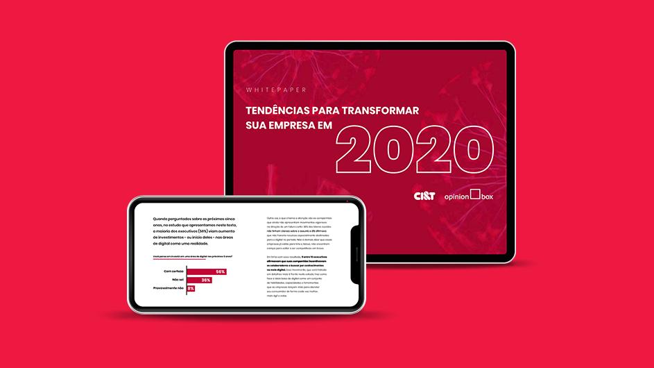 Mockup do whitepaper Tendencias 2020