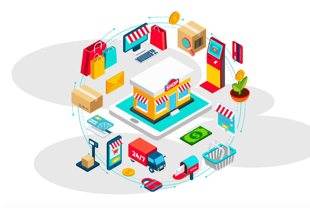 Consumer Packaged Goods: A Guide To Building Relationships With Customers hero image with an illustration of all things CPG