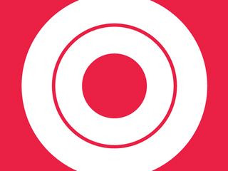 On a red background, a white circle and a red circle