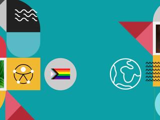 Ícones representam diversidade e meio ambiente na CI&T