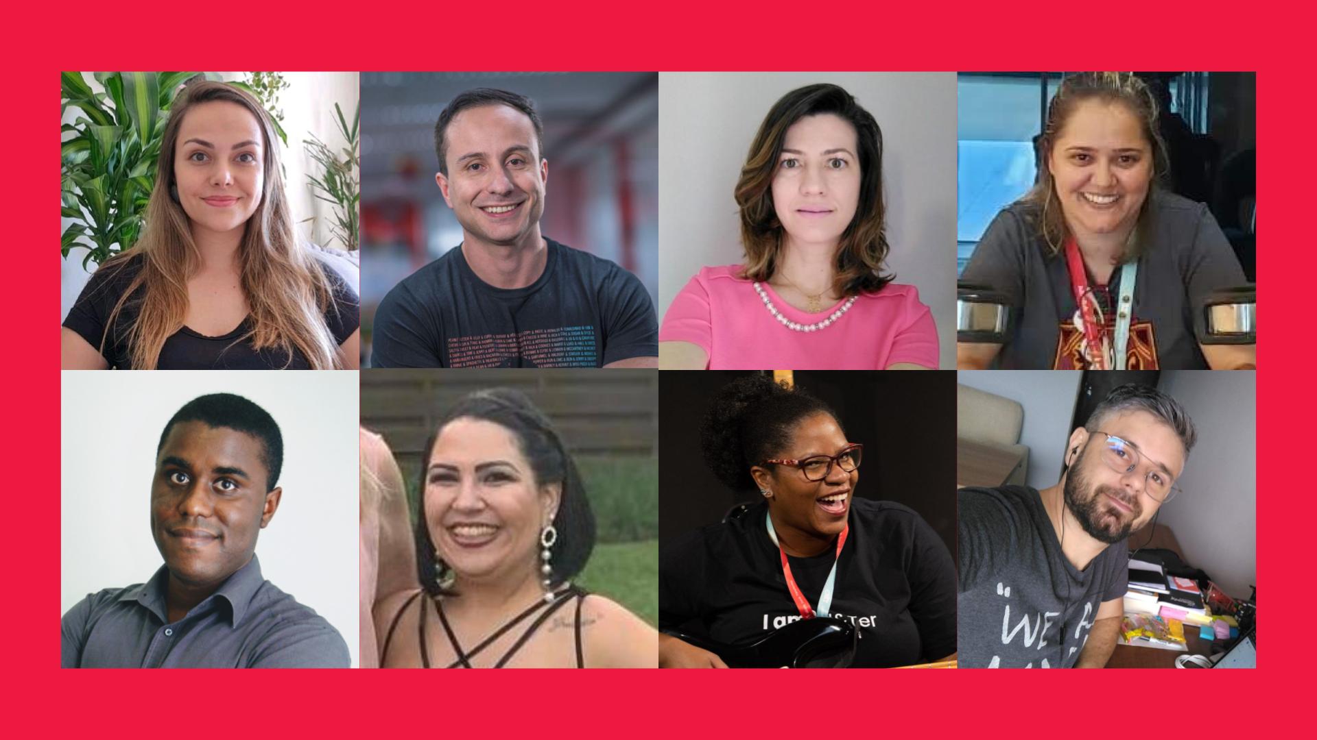 Fotos de algumas lideranças dos grupos de ação