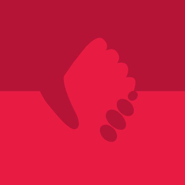 pulso em riste em fundo vermelho