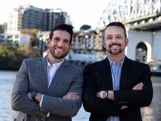 Leo Abdala and Felipe Rubim posing and smiling